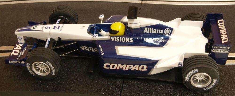 "Scalextric C2334  BMW Williams F1 ""Ralf Schumacher"" 2001 1:32"