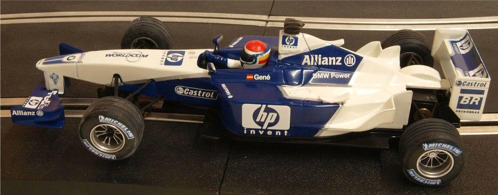 """Scalextric 6108. Williams BMW FW23 F1 """"Gené 2002"""""""