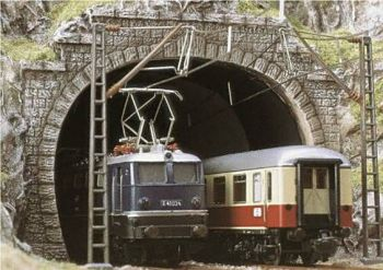 Busch 7027  Double Track Tunnel Portals 'OO/HO'