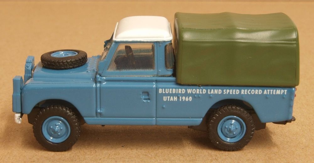 Oxford Diecast 76LAN2020  Land Rover Series II LWB Bluebird Land Speed Record