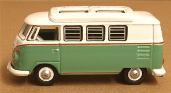 Oxford Diecast 76VWS002  VW T1 Camper Turquoise and White