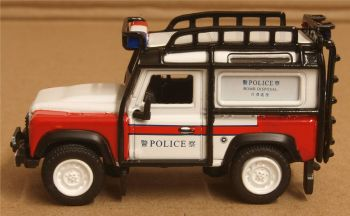 Oxford Diecast 76LRDF011  Land Rover Defender 90 Station Wagon Hong Kong Police