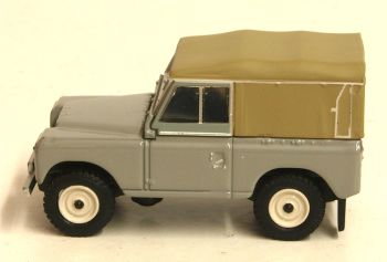 Oxford Diecast 76LR3S003  Land Rover Series III Canvas Mid Grey