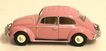 Oxford Diecast 76VWB011UK  VW Beetle Pink