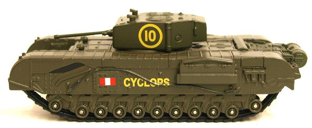 Oxford Diecast 76CHT005  Churchill Tank  51st Rtr, Uk 1942