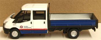 Oxford Diecast 76TPU003  Ford Transit Dropside  London Underground