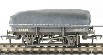 Bachmann 33-088A  5 Plank China Clay Wagon GWR Grey with Tarpaulin Cover