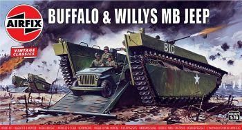 Airfix A02302V  LVT Buffalo IV & Willys MB Jeep 1:76