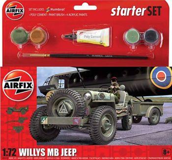 Airfix A55117  Willys MB Jeep Starter Set 1:72