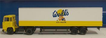 Oxford Diecast 76SC110004  Walls Ice Cream Scania 110 40ft Box Trailer
