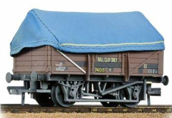 Bachmann 33-085B  5 Plank China Clay Wagon BR Bauxite (TOPS) With Hood