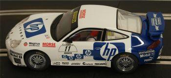 """Scalextric C2354/2355  Porsche 911 GT3R x2 """" Grau - Bernhard"""" 1:32"""