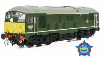 Bachmann 32-415  Class 24/0 D5036 Disc Headcode BR Green (Small Yellow Panels)
