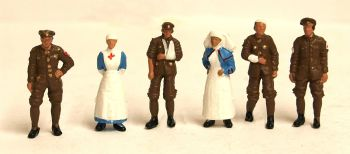 Scenecraft 36-409  WW1 Medical Staff and Soldiers