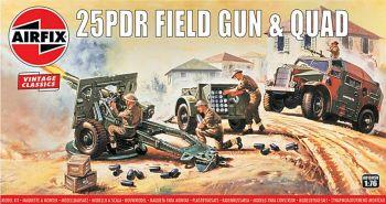Airfix A01305V  25PDR Field Gun & Quad 1:76