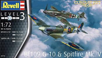 Revell 03710  Combat Set Spitfire Mk.V & Messerschmitt Bf109 G-10 1:72