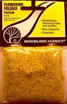 Woodland Scenics F176  Flowering foliage  (Yellow)