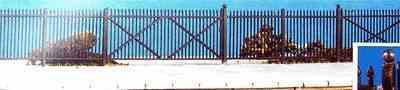 434 GWR Spear fencing (straight)