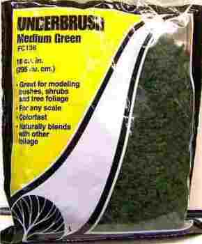 Woodland Scenics FC136  Underbrush  Medium green