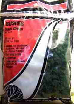 Woodland Scenics FC147  Bushes Dark green