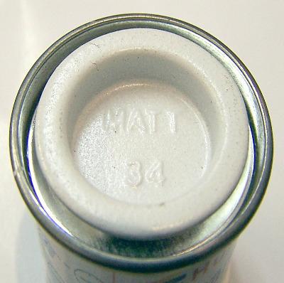 34  Humbrol (Matt) Enamel    White  AA0374