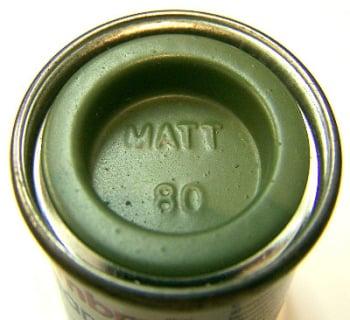 Humbrol 80  (matt) Enamel    Grass Green AA0881