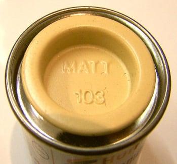 103  Humbrol (matt) Enamel    Cream AA1136