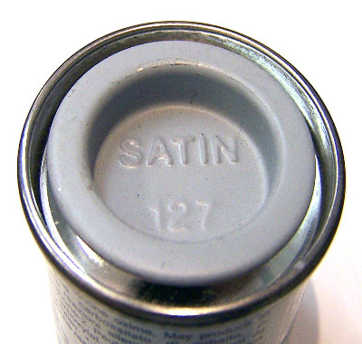 Humbrol 127  (Satin) Enamel    US Ghost Grey  AA1403