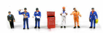 Scenecraft 36-051  Traction maintenance depot workers