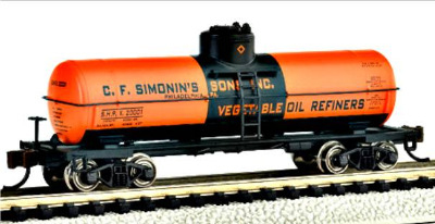 Bachmann 17856  Single dome tank 'C F Simonin's Sons Inc' (Silver Series)