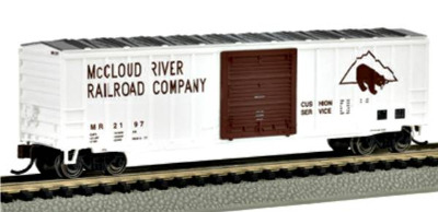 Bachmann 19652  50' Outside braced sliding door box car 'McCloud River' (Silver Series)