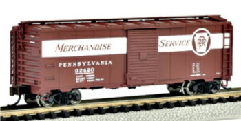 Bachmann 17052  40' Box car 'PRR Merchandise Service' (Silver Series)(1:148)
