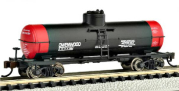 Bachmann 17851  Single dome tank 'Owenwood Motor Oil' (Silver Series)