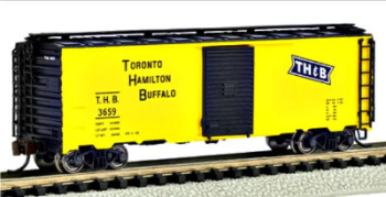 Bachmann 17055  40' Box car 'Toronto Hamilton & Buffalo' (Silver Series)