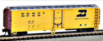 Bachmann 17951  50'  Steel Reefer 'Burlington Northern' (Silver Series)