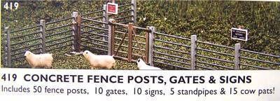 419  Concrete fence posts (gates & signs)