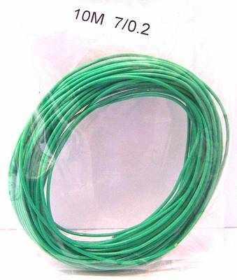 Wire 7/0.2  Green  x 10 metres