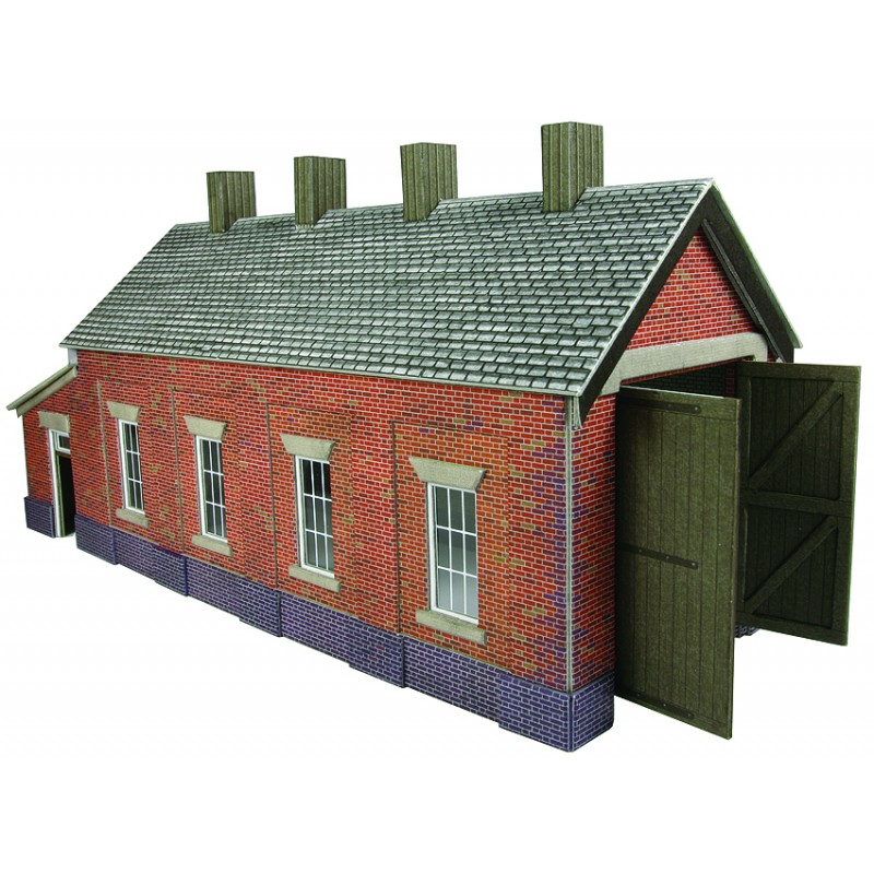 Metcalfe PO331  Engine shed (brick) single road