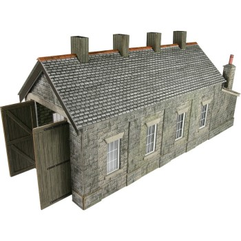 Metcalfe PO332  Engine shed (stone) single road