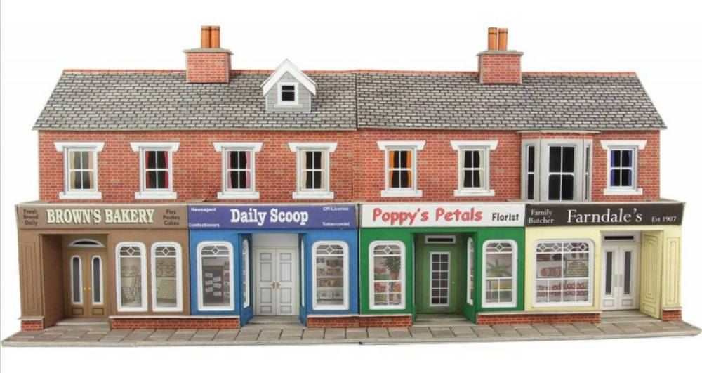 PO272  Low relief shop fronts (brick)