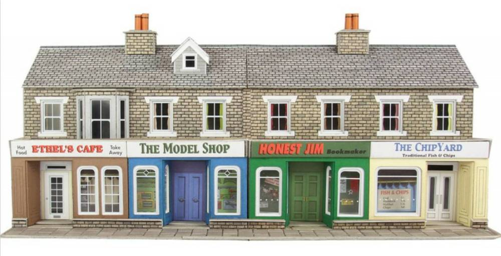 PO273  Low Relief shop front (stone)