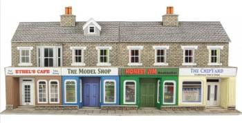 Metcalfe PO273  Low Relief shop front (stone)