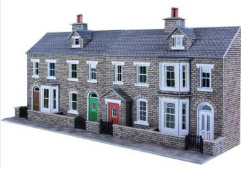 Metcalfe PO275  Low relief terrace house fronts (stone)