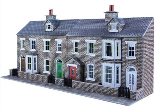 PO275  Low relief terrace house fronts (stone)