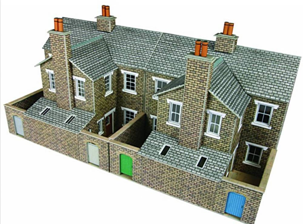 Metcalfe PO277 00/H0 Low Relief stone Terraced House Backs