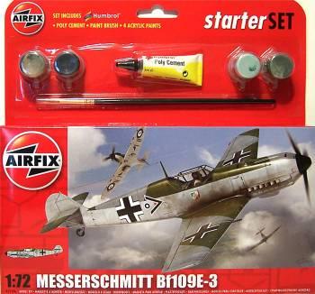 Airfix A55106  Messerschmitt Bf109E-3 Starter Set 1:72