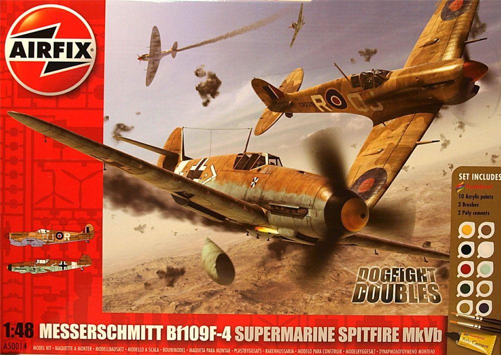 Airfix A50014 Messerschmitt Bf109F-4 and Supermarine Spitfire MkVb Dogfight