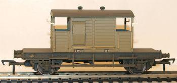 Bachmann 38401A SR 25 Ton Pill Box Brake Van BR Grey (weathered)