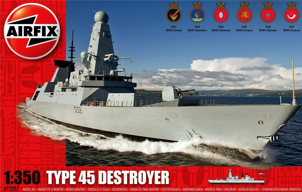 Airfix A12203   Type 45 Destroyer  scale 1:350