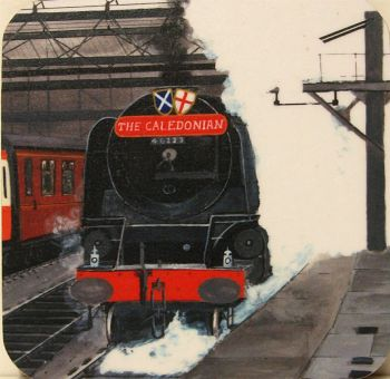 Duchess of Sutherland & The Caledonian train